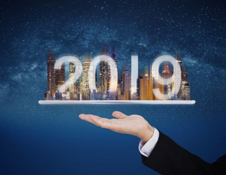 2019 new technology on commercial property management concept