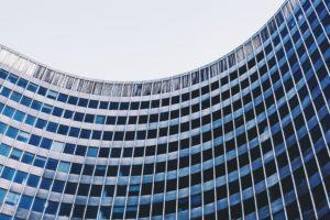 a modern multi-storey building in Brussels