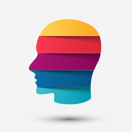 head in profile composite diagram