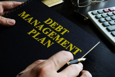 Debt management plan notebook.