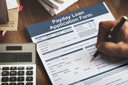 Payday loan application form.