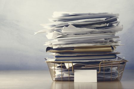 Stack of PPI paperwork