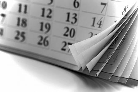 Calendar pages.